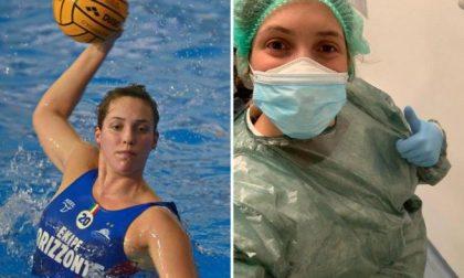 Giulia Viacava l'azzurra della pallanuoto lascia costume e calottina per fare l'infermiera del coronavirus in Liguria
