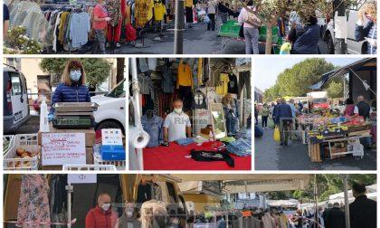Riapre il mercato di Vallecrosia: c'è speranza e voglia di tornare alla normalità. Foto