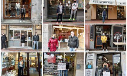 Saracinesche alzate da Ventimiglia e Bordighera: il flash mob dei commercianti. Fotoservizio