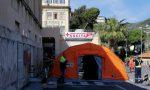 Disinstallata la tenda pre triage allestita davanti all'Ospedale di Sanremo