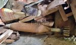 Bomba di aereo scoperta in un casolare abbandonato a Ventimiglia. Foto