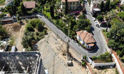 Ripresi i lavori di allargamento di via Coggiola a Bordighera
