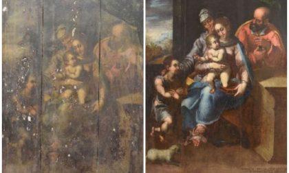 La Pala d'Altare del Gastaldi torna a rivivere nel suo splendore a Molini di Triora. Foto e particolari