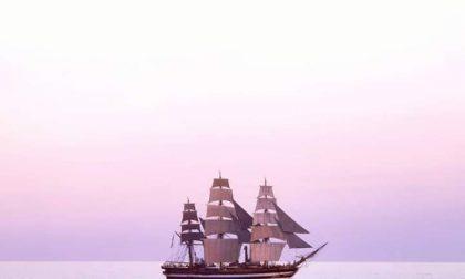 """Spettacolo nel Mar Ligure """"Condividete i vostri scatti dell'Amerigo Vespucci"""""""