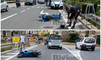 Schianto con lo scooter a Ventimiglia: grave un uomo, in elicottero al Santa Corona. Video