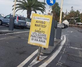 Sanremo, disagi nei parcheggi durante i giorni di mercato