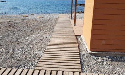 Ultimata la spiaggia per disabili di Ventimiglia: è a Nervia