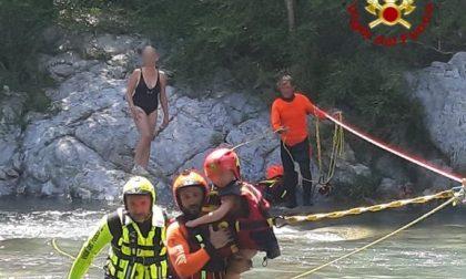 Il fotoservizio del salvataggio di 8 escursionisti bloccati dalla piena del Roya