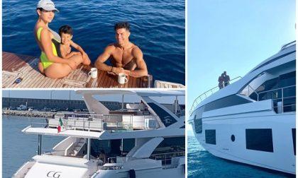 CR7 a Sanremo con la famiglia sul nuovo Yacht 27 metri