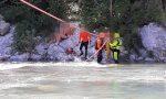 Otto escursionisti bloccati da un'ondata di piena del Roya: salvati dai vigili del fuoco