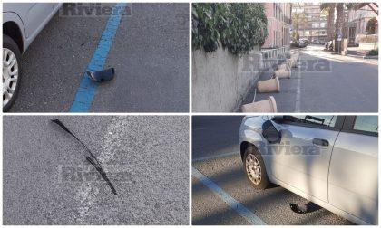 Ancora atti vandalici a Bordighera, vicino alla stazione ferroviaria. Foto
