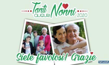 """Una foto e un messaggio per dire: """"Grazie nonni siete favolosi!"""""""