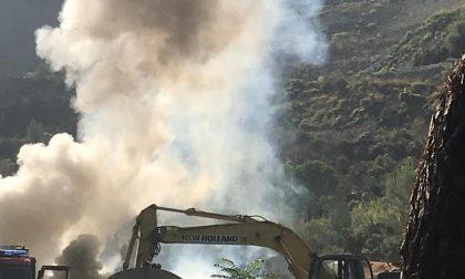 Incendio a Bevera vigili del fuoco sul posto