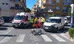 Ciclista ferito nello schianto con un furgoncino a Diano marina