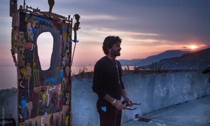Performance live dell'artista Gabriele Maquignaz al Forte dell'Annunziata VIDEO