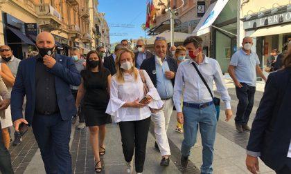 Giorgia Meloni a Sanremo per presentare i candidati nella lista di Imperia