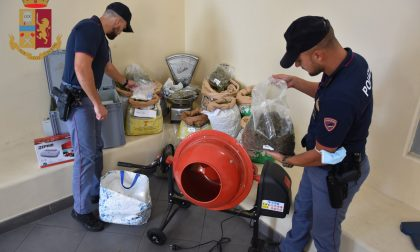 Operazione antidroga della Polizia, ingenti sequestri di stupefacente
