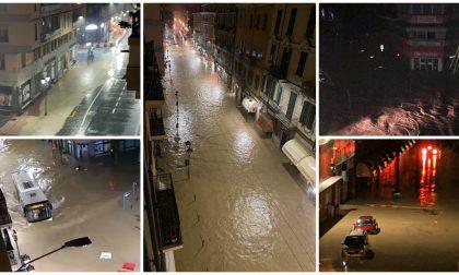 Incredibile a Ventimiglia: il Roya rompe gli argini e invade la città. Foto e video