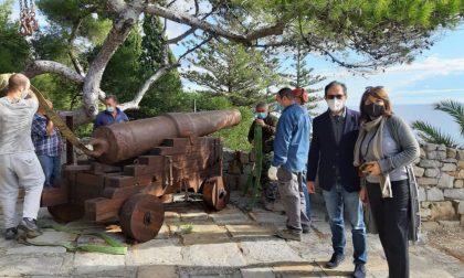 La Marabutto, luogo simbolo di Bordighera, è tornato il cannone