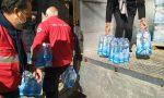 Colletta della Croce Rossa per glli abitanti di Molini