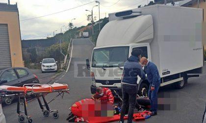Ragazza ferita mentre pratica scuola guida con la moto a Sanremo