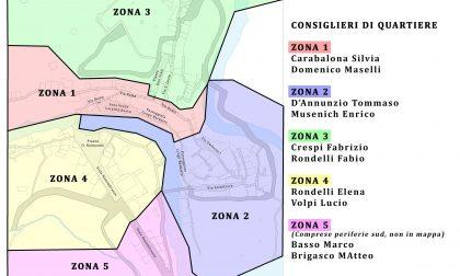 Rocchetta Nervina: sindaco nomina due consiglieri per ognuno dei 5 quartieri. Mappa
