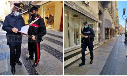 Decreto Conte:  controlli di carabinieri e polizia locale in via Matteotti, scattano i verbali