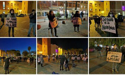 Flash mob di commercianti e imprenditrici donne a Ventimiglia. Foto e video