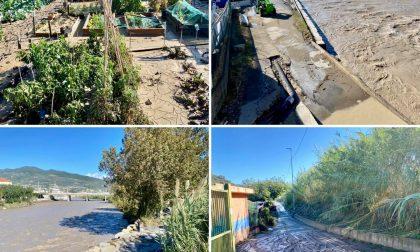 Regione Prati a Riva Ligure invasa dal fango