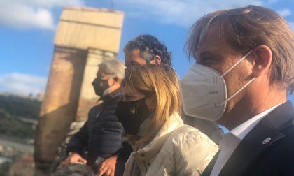 Marco Scajola a Taggia per un sopralluogo sull'argine franato