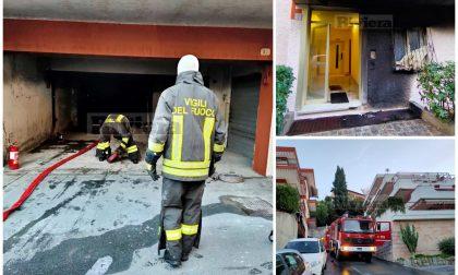 Brucia garage con solventi a Ventimiglia, sfiorata la tragedia e 4 in ospedale. Video