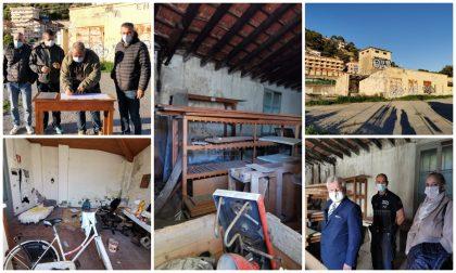 Partita la demolizione delle ex cabine Enel per ampliare l'area archeologica di Nervia