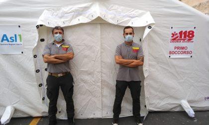 Installata la nuova tenda pre-triage al Borea