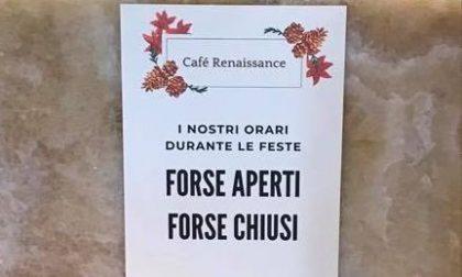 """Ecco cosa scrive il bar di via Matteotti: """"I nostro orari per le feste? Forse aperti, forse chiusi"""""""