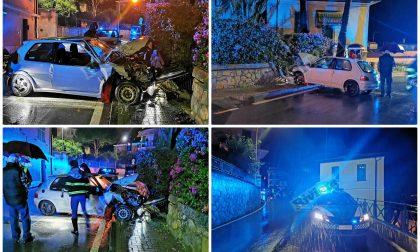 Auto impazzita finisce sul marciapiede, tragedia sfiorata a Bordighera