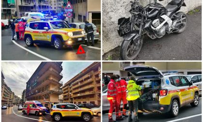 Schianto auto e moto a Sanremo, ferito un uomo in via Pietro Agosti
