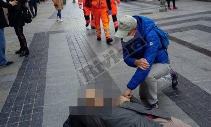 Malore in via Matteotti a sanremo, mobilitazione di soccorsi