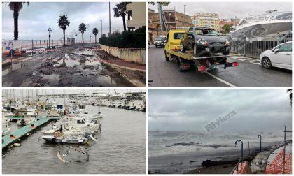 Maltempo: violenta mareggiata si abbatte tra Sanremo e Ventimiglia, danni. Foto e Video