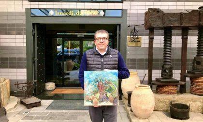 Premio a Carlo Isnardi per aver ospitato in ditta artisti russi