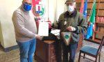 I ringraziamenti del sindaco Giuffra all'alpino Armando Cha