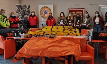 Al soccorso alpino donato materiale tecnico dai Leo Club