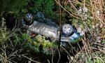 Auto precipita nel burrone sulla strada tra Bordighera e Seborga. Foto e Video
