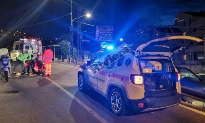 Incidente in scooter in via Val D'Olivi a Sanremo, ferito un uomo