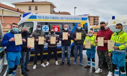 Si sono distinti durante l'emergenza covid premiati 27 operatori della Croce Azzurra