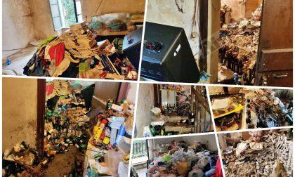 """Incendio nella casa di un """"accumulatore seriale"""", proprietario finisce in ospedale. Foto"""