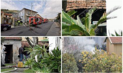 Bruciano due auto e una baracca in un parcheggio privato di Vallecrosia
