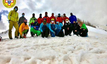 Addestramento con escursione insieme al Soccorso Alpino Liguria
