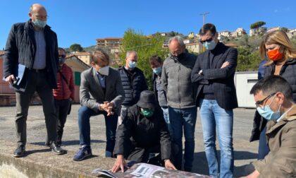 Avanzamento lavori, Scajola e Giampedrone a Dolcedo, San Lorenzo, Vallecrosia e Bordighera