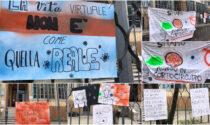 Protesta gentile degli studenti del Liceo Artistico
