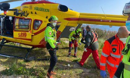 Incidente in moto sul Pizzo d'Evigno, allertato l'elicottero